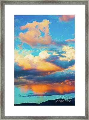 Sunset Showers Framed Print