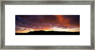Sunset Sierra Nevada Mountains Ca Framed Print by Panoramic Images