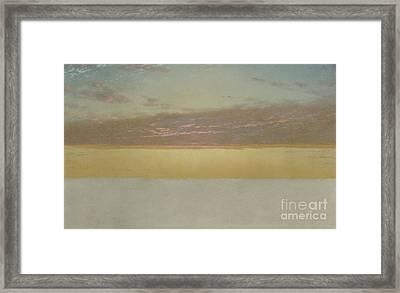 Sunset Sky, 1872 Framed Print