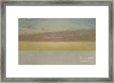 Sunset Sky, 1872 Framed Print