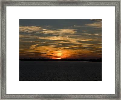 Sunset Sky Framed Print by Phil Stone