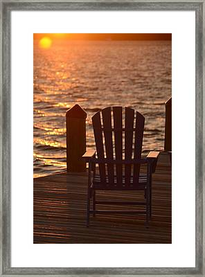 Sunset Solace Framed Print by Maria Suhr