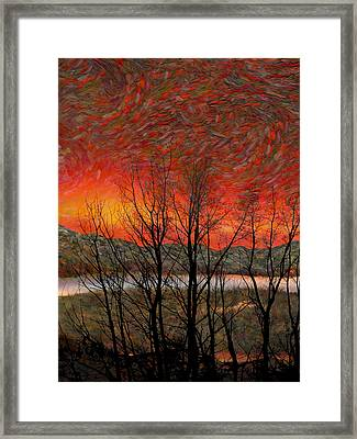 Sunset Soliloquy Framed Print
