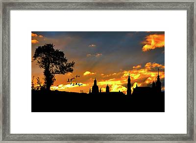 Sunset Solitude Framed Print by Cocoparisienne