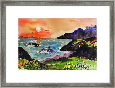 Sunset Sonoma Coast  Framed Print