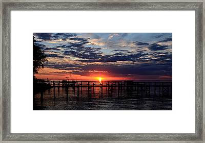 Sunset - South Carolina Framed Print