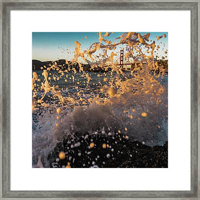 Sunset Splash Framed Print