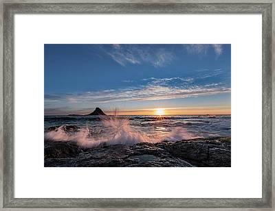 Sunset Splash II Framed Print