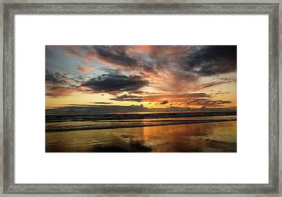Sunset Split Framed Print