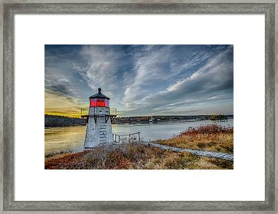 Sunset, Squirrel Point Lighthouse Framed Print