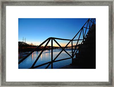 Sunset Staircase Framed Print by Andrew Dinh