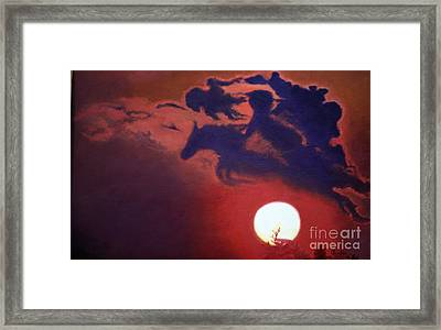 Sunset Steeplechase Framed Print by Cindy Lee Longhini