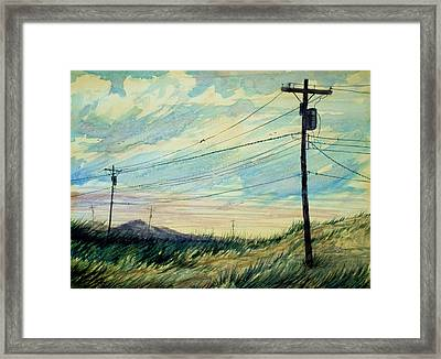 Sunset Framed Print by Stephen Boyle