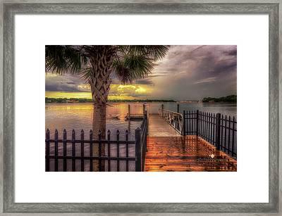 Sunset Storm Framed Print