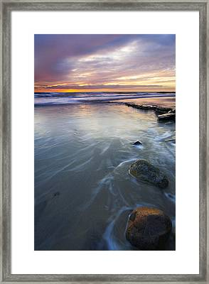 Sunset Storm Framed Print by Mike  Dawson
