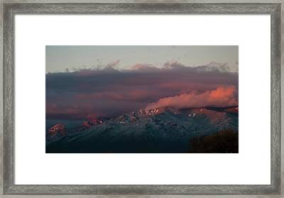 Sunset Storm On The Sangre De Cristos Framed Print