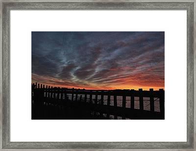 Sunset Streaks Framed Print by Rosanne Jordan