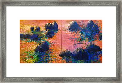 Sunset Stream Framed Print by Dale  Witherow