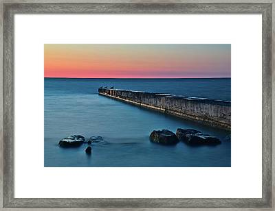 Sunset Stretch Framed Print by Frozen in Time Fine Art Photography
