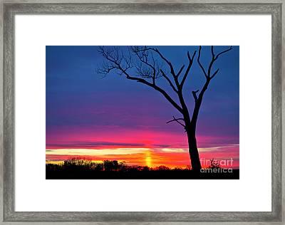 Sunset Sundog  Framed Print by Ricky L Jones