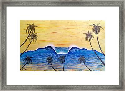 Sunset Surf Dream Framed Print