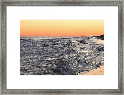 Sunset Surf Fishing Framed Print
