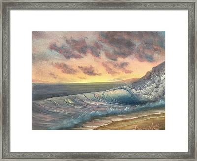 Sunset Surf  Framed Print