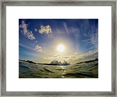Sunset Surf Framed Print by Steven Lapkin