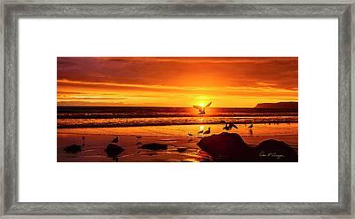 Sunset Surprise Pano Framed Print