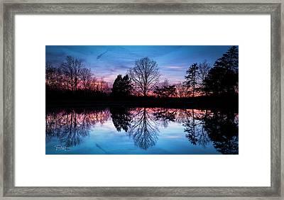Sunset Symmetry Framed Print