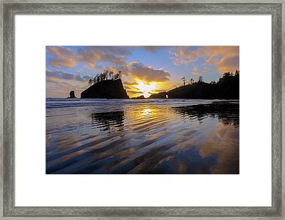 Framed Print featuring the photograph Sunset Symphony by Mike Lang