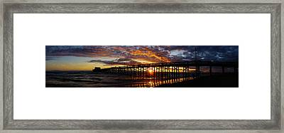 Framed Print featuring the photograph Sunset  by Thanh Thuy Nguyen