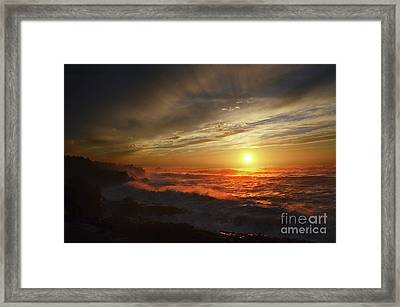 Sunset Third Planet From The Sun Framed Print by Bob Christopher