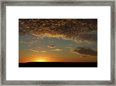 Framed Print featuring the photograph Sunset by Thomas Bomstad