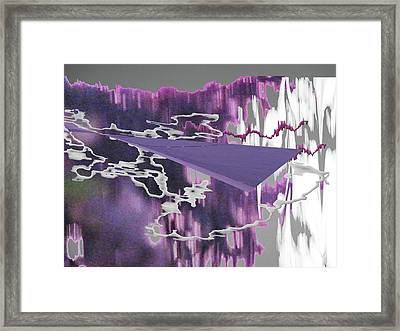 Sunset Thoughts 4 Framed Print by Lyn Perry