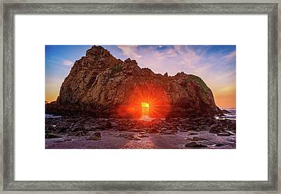 Sunset Through  Framed Print