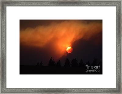 Sunset Through Smoke Framed Print
