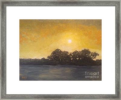 Sunset Through The Fog Framed Print by Stella Sherman