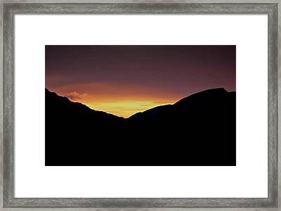 Sunset Through The Gap Framed Print