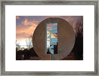 Sunset Thru Art Framed Print by Rob Hans