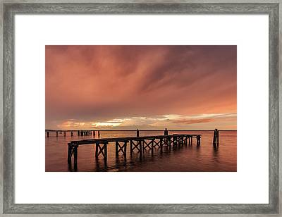 Sunset Thru Storm Clouds Framed Print