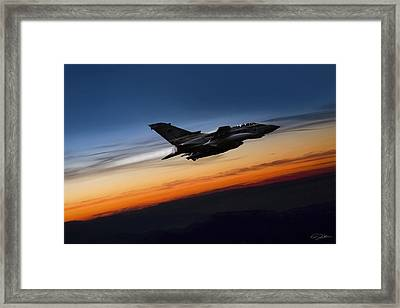 Sunset Tornado Framed Print by Peter Chilelli