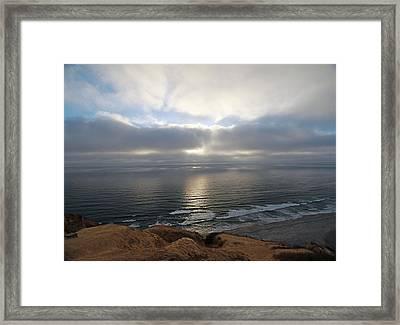 Sunset Torrey Pines Number One Framed Print
