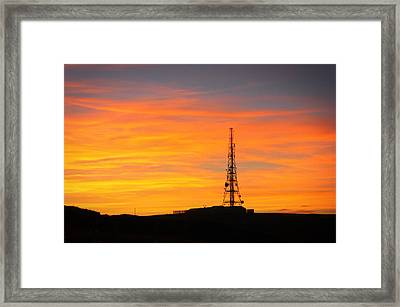 Sunset Tower Framed Print by RKAB Works