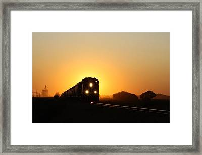 Sunset Express Framed Print