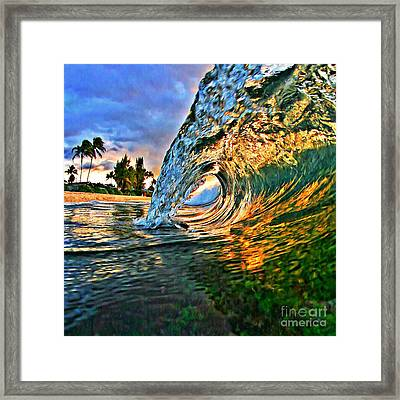Sunset Tube - Square Framed Print