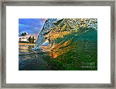 Sunset Tube Framed Print