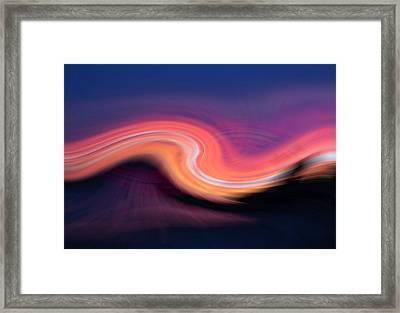 Sunset Twirl Framed Print