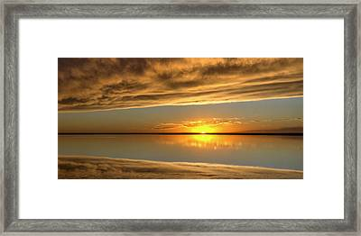 Sunset Under The Clouds Framed Print