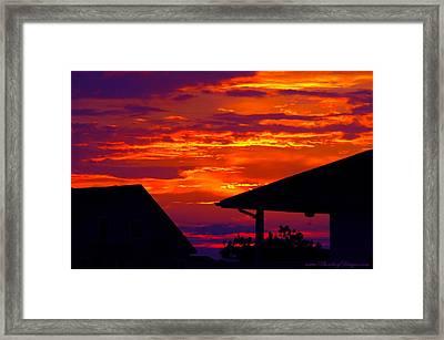 Sunset Va 4736 Framed Print by PhotohogDesigns